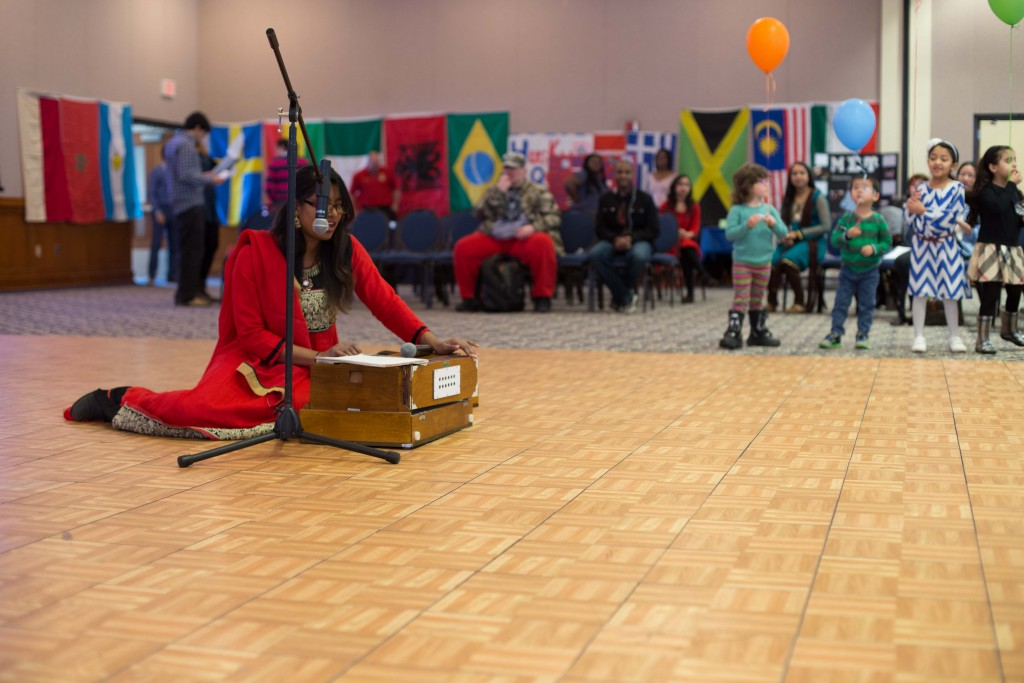 "Bangladeshi Student Association Member Shanjida Jui said ""We are performing a Bengali song 'Modhu Maloti.'"" (Photo By: Santiago Pelaez) Many other organizations put together a performance showcasing traditional dances, music and chants."
